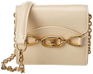 Celine Leather Card Holder On Chain