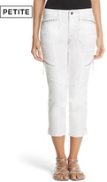 White House Black Market Petite Twill Crop Pants