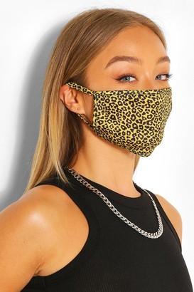 boohoo Mini Leopard Fashion Face Mask