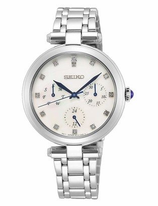 Seiko Women's Without Quartz Watch with Stainless Steel Strap SKY663P1