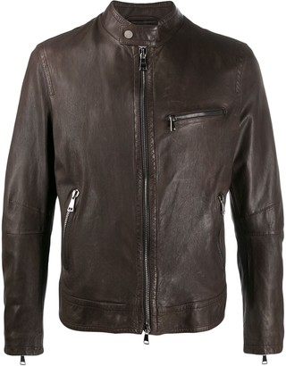 Drome Short Leather Jacket
