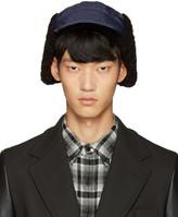 Junya Watanabe Navy Nylon Aviator Hat
