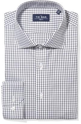 Tie Bar Bold Check Grey Non-Iron Dress Shirt