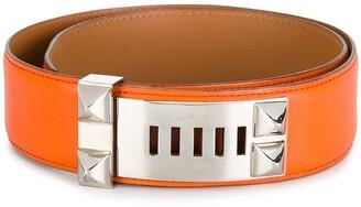 Hermes Pre-Owned stud detail belt