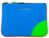 Comme des Garcons Super Fluo Small Pouch in Orange/Blue