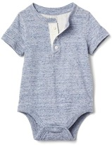 Gap Short sleeve slub henley bodysuit