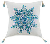 Jessica Simpson Aquarius Tasseled Medallion-Embroidered Pillow