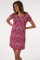 Velvet Arlene Dress in Magenta