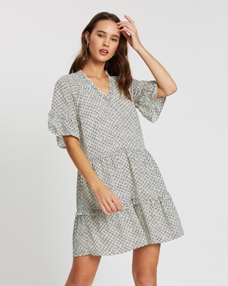 Atmos & Here Sally Tiered Mini Dress