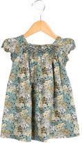 Bonpoint Girls' Floral Print Gathered-Accented Dress