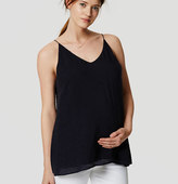 LOFT Petite Maternity Dot Textured Cami