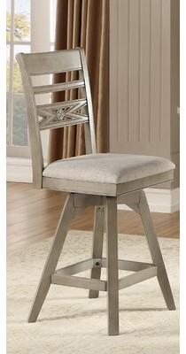"One Allium Wayâ® Cates Bar & Counter Swivel Stool (Set of 2) One Allium WayA Seat Height: Counter Stool (26"" Seat Height)"