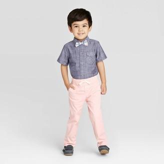 Cat & Jack Toddler Boys' 2pc Striped Shirt & Bottom Set with Bowtie - Cat & JackTM