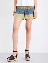 Opening Ceremony Geometric-printed high-rise foulard shorts