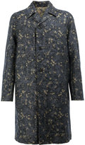 Dries Van Noten jacquard midi coat - men - Cotton/Linen/Flax - 48