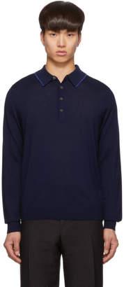 Paul Smith Navy Knit Polo