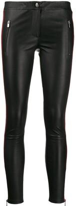 Arma Side Panel Leather Leggings