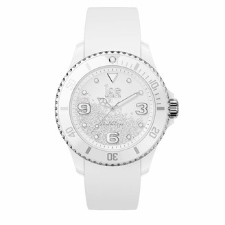 Ice Watch Ice-Watch - ICE crystal White silver - Women's wristwatch with silicon strap - 017246 (Medium)