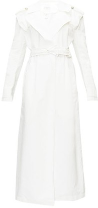 Bottega Veneta Belted Cotton Trench Coat - Womens - Ivory