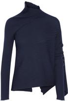 Marques Almeida Marques' Almeida - Asymmetric Ribbed Wool Sweater - Navy