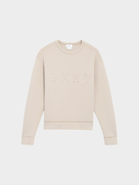 DKNY Scuba Jersey Pullover With Embossed Front Logo