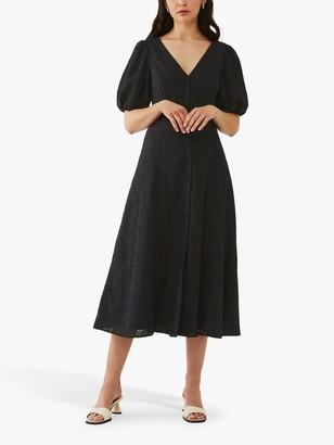 Ghost Zahara Midi Dress, Black
