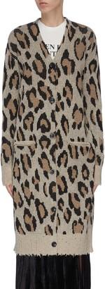R 13 Leopard knit cardigan