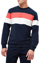 Jaeger Broken Stripe Sweatshirt, Navy