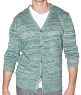 191 Unlimited Men's Green Heathered Cardigan