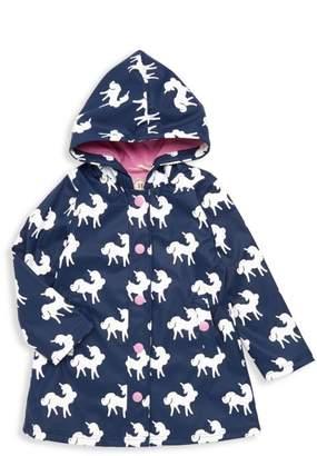 Hatley Little Girl's & Girl's Changing-Color Unicorn Splash Jacket