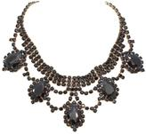 Natalie B Black Crystal Necklace