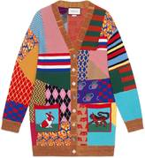 Gucci Patchwork oversize wool cardigan