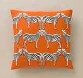 DwellStudio Zebra Tangerine Pillow