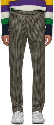 Acne Studios Beige and Brown Check Ryder Trousers