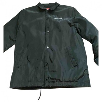Supreme Black Polyester Jackets