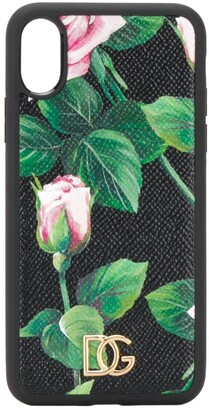 Dolce & Gabbana Tropical Rose iPhone XS cover