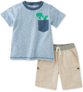 Kids Headquarters 2-Pc. Dino-Pocket T-Shirt & Shorts Set, Baby Boys (0-24 months)