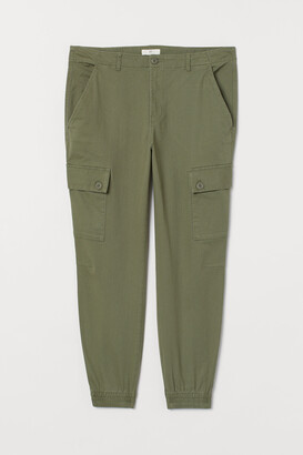 H&M H&M+ Cotton cargo trousers