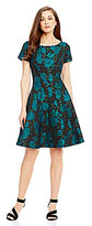 Antonio Melani Helena Jacquard Cap Sleeve Dress