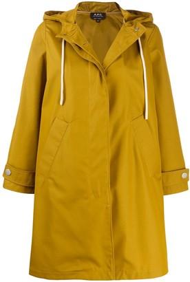 A.P.C. Drawstring Hood Rain Coat