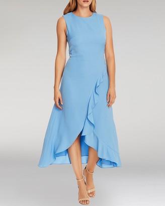 Vince Camuto Asymmetrical-ruffle Dress