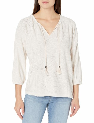 Nic+Zoe Women's Etched Florals Sweater