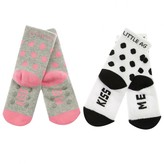 Girls Kiss Me Socks Set (2 Pack)