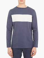 Saturdays Surf NYC Blue Heavy Cotton Long-Sleeved T-Shirt