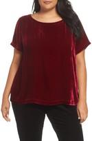 Eileen Fisher Plus Size Women's Velvet Top