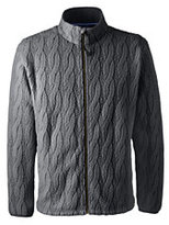Classic Men's Polartec Cable Fleece Jacket-Arctic Gray