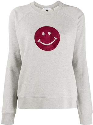 Bella Freud Flocked Happy sweater
