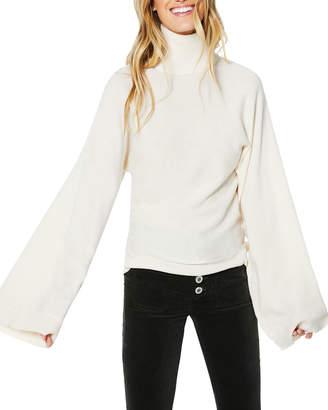 Ramy Brook Bennett Flare-Sleeve Turtleneck Sweater