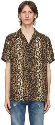 Wacko Maria Brown Leopard Hawaiian Shirt