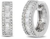 Effy Jewelry Effy Pave Classica 14K White Gold Diamond Earrings, 0.76 TCW